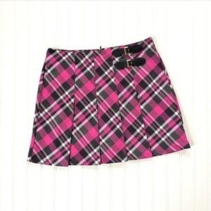 Lady Hagen Golf Tennis Plaid Pleated Skort 6 NWOT